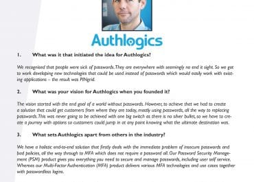 CyberWhite's Seven Questions With - Steven Hope, Authlogics